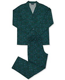 Men's Cotton Flannel Pajama Set, Created for Macy's