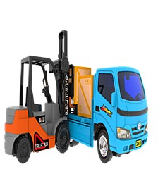 Mag-Genius Truck and Forklift Combo Toy