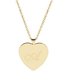 Isabel Initial Heart Gold-Plated Pendant Necklace