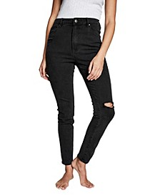 High Rise Skinny Leg Denim Jeans