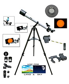 800mm x 72mm Day and Night Electronic Focus Telescope Plus Smartphone Adapter and Solar Filter Cap