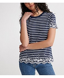 Women's Summer Schiffli T-Shirt