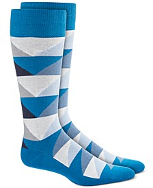 Men's Abstract Triangle Socks, Created for Macy's