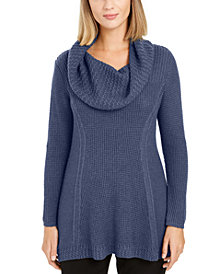 Style & Co Waffle-Knit Cowlneck Sweater, Created for Macy's