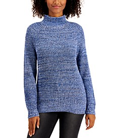 Plus Size Funnel-Neck Sweater, Created For Macy's