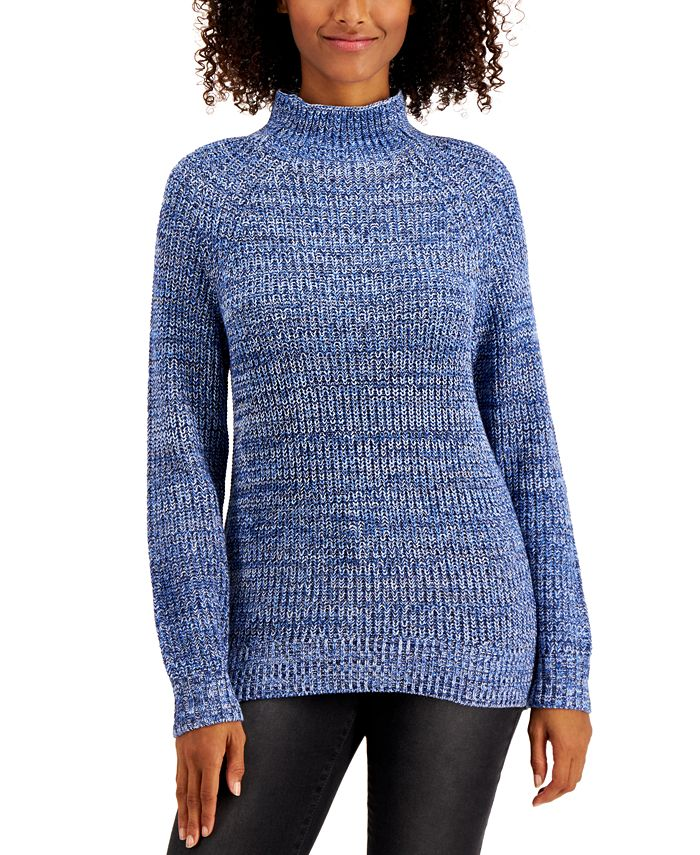 Style & Co - Plus Size Funnel-Neck Sweater
