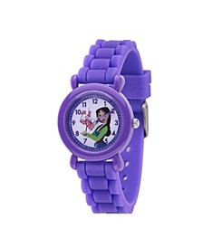 Disney Princess Mulan Girls' Purple Plastic Watch 32mm