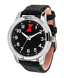 Marvel Black Widow Unisex Silver Alloy Watch 38mm