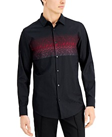 Men's Jacquard Chest Pattern Shirt, Created for Macy's