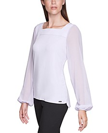 Chiffon Long-Sleeve Top