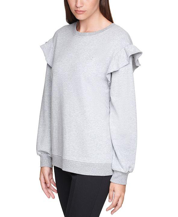 Calvin Klein Plus Size Ruffle-Sleeve Sweatshirt