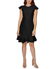 Ruffle-Hem Sheath Dress