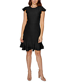 Betsey Johnson Ruffle-Hem Sheath Dress