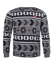 Men's Printed Crewneck Fleece Sweatshirt