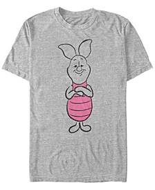 Men's Basic Sketch Piglet Short Sleeve T-Shirt