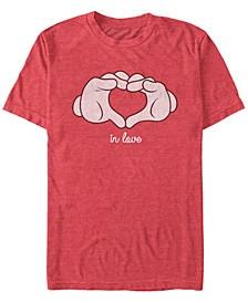 Men's Glove Heart Short Sleeve T-Shirt