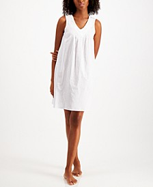 Applique Cotton Sleeveless Nightgown, Created for Macys