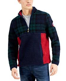 Men's Half-Zip Colorblocked Fleece Pullover