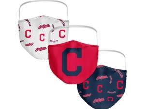 Cleveland Indians 3-Pk. Face Mask