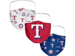 Texas Rangers 3-Pk. Face Mask