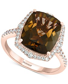 EFFY® Smoky Quartz (4-1/2 ct. t.w.) & Diamond (1/3 ct. t.w.) Ring in 14k Rose Gold