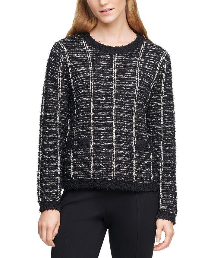 Calvin Klein - Textured Button Detail Sweater