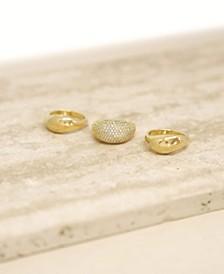 18K Gold Timeless Glamour Women's Ring Set