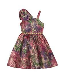 Big Girl Jacquard Dress With Bow