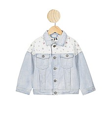 Little Girls Emmy Spliced Trucker Jacket