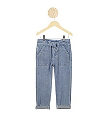 Little Girls Blair Tie Front Jean