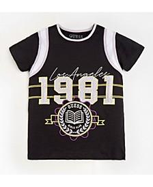 Big Girls Short Sleeve Varsity Style T-Shirt
