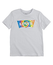 Big Boys Tie Dye Batwing Logo Graphic T-shirt