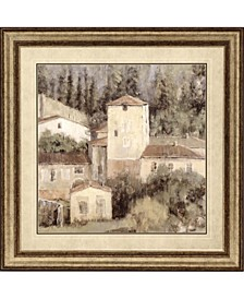 """Peaceful View Of Tuscany Framed Wall Art, 43"""" x 43"""""""