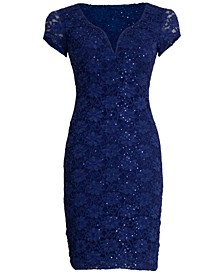 Sequined Lace Sweetheart Sheath Dress