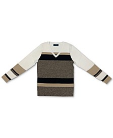 Eva Cotton Colorblocked V-Neck Sweater, Created for Macy's