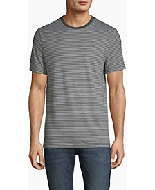 Men's Heather Stripe Crewneck T-shirt