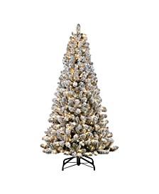 "6.5"" Pre-Lit Flocked Virginia Pine Artificial Christmas Tree"