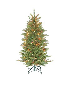"4.5"" Pre-Lit Slim Fraser Fir Artificial Christmas Tree"