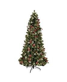 "7.5"" Pre-Lit Slim Newport Pine Artificial Christmas Tree"