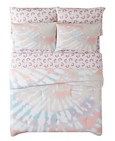 Tie Dye Party 7 Piece Bed in a Bag, Queen