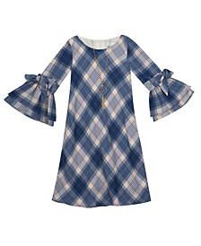 Little Girl Foil Chiffon Shift Dress