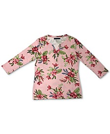 Printed Henley T-Shirt, Created for Macy's