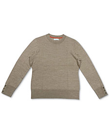 Charter Club Button-Sleeve Sweater, Created for Macy's