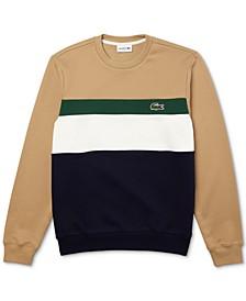 Men's Colorblock Striped Sweatshirt