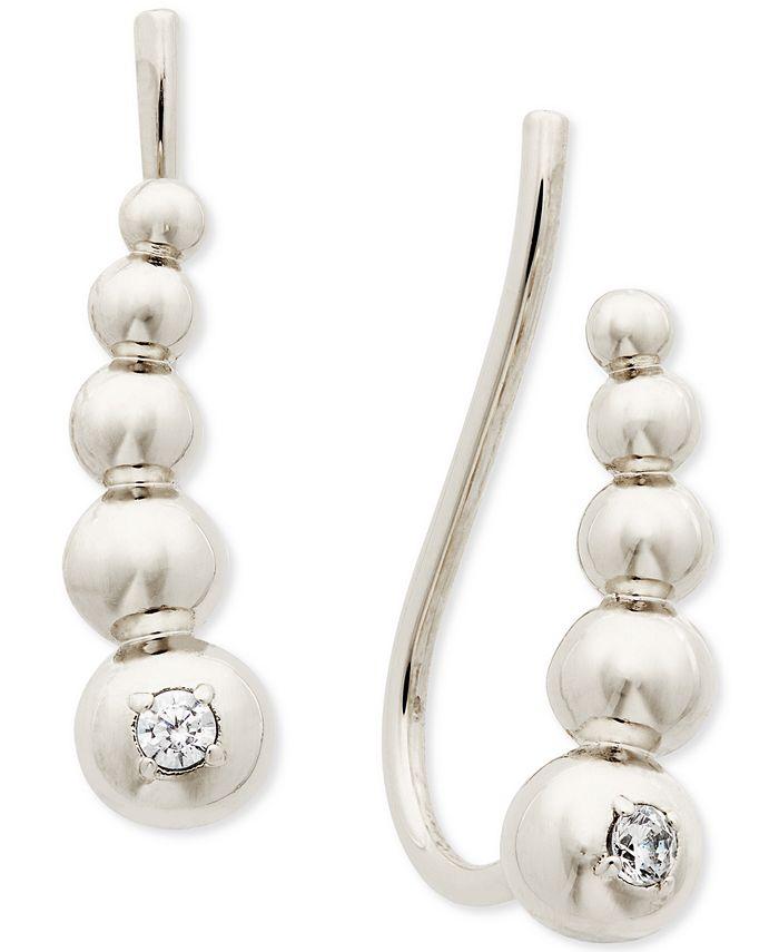 AVA NADRI - Cubic Zirconia Graduated Bead Climber Earrings