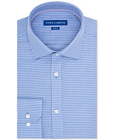 Men's Slim-Fit Geo Dobby Dress Shirt