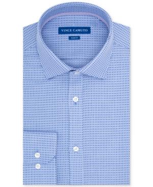 Vince Camuto Men's Slim-Fit Geo Dobby Dress Shirt