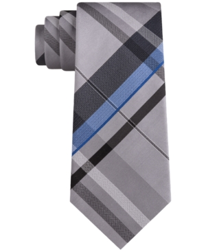 Kenneth Cole Reaction Men's Bradley Slim Plaid Tie