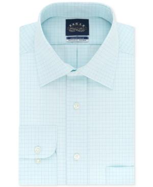 Men's Classic/Regular-Fit Non-Iron Check Stretch Collar Dress Shirt