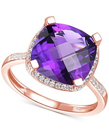 Amethyst (4-7/8 ct. t.w.) & Diamond (1/4 ct. t.w.) Statement Ring in 14k Yellow Gold (Also in Blue Topaz & Citrine)